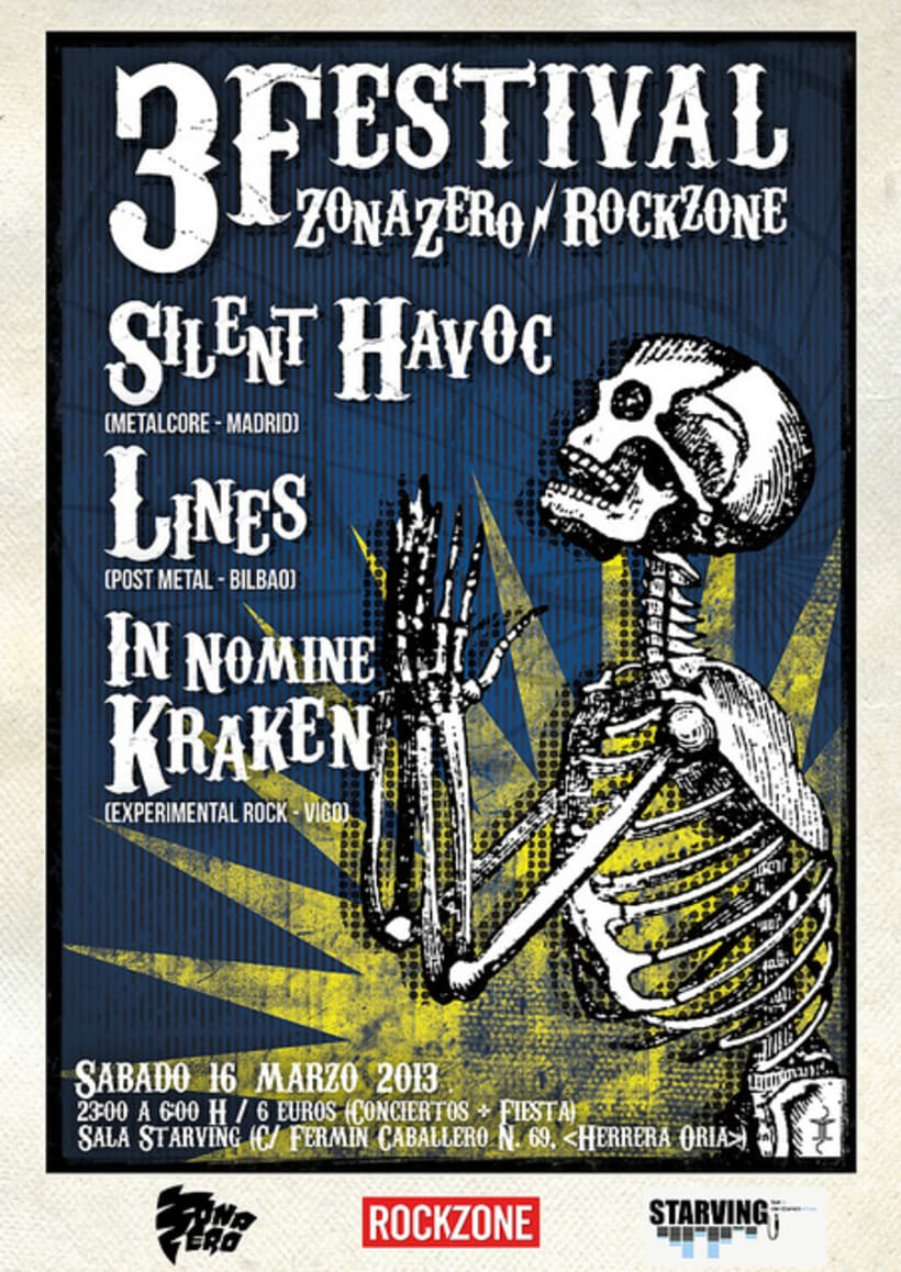 Carteles realizados para el Festival Zona-Zero/Rockzone 2