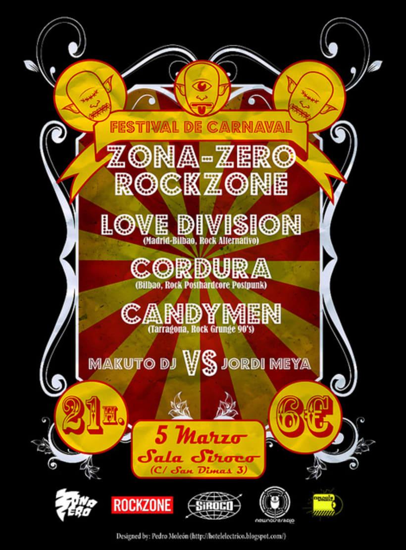 Carteles realizados para el Festival Zona-Zero/Rockzone 0