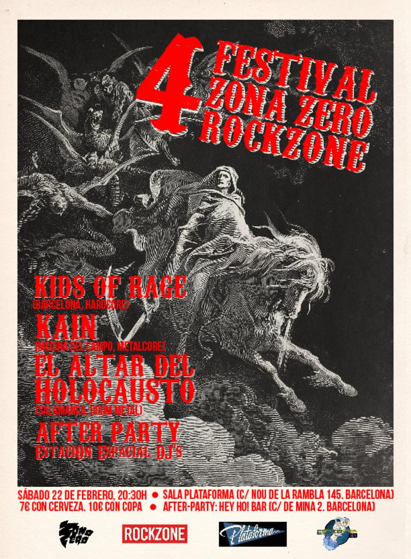 Carteles realizados para el Festival Zona-Zero/Rockzone 3
