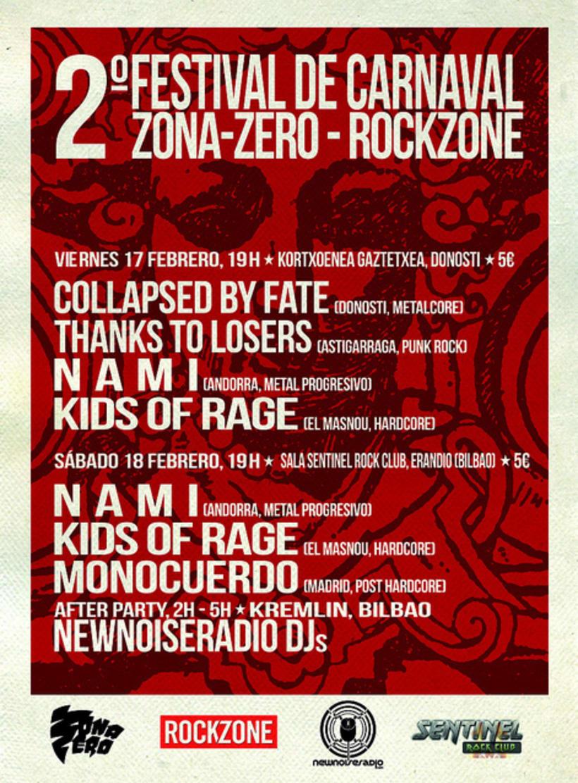 Carteles realizados para el Festival Zona-Zero/Rockzone 1