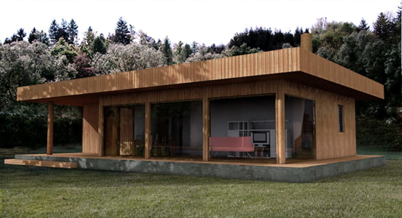 Chalet 3d Max+Vray. -1