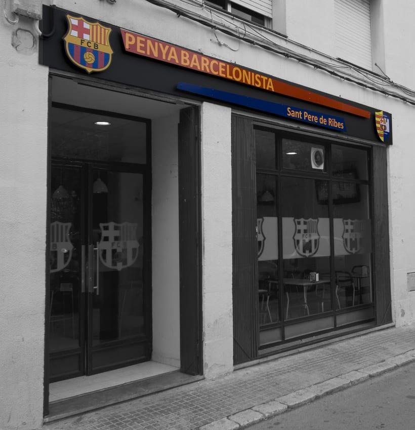 Rotulación para Peña Barcelonista Sant Pere de Ribes 0