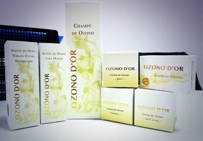 Packaging de Cosméticos para Ozono D'Or 0