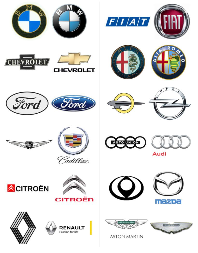 Los efectos para modernizar los logotipos de autom viles - Marcas de te ...