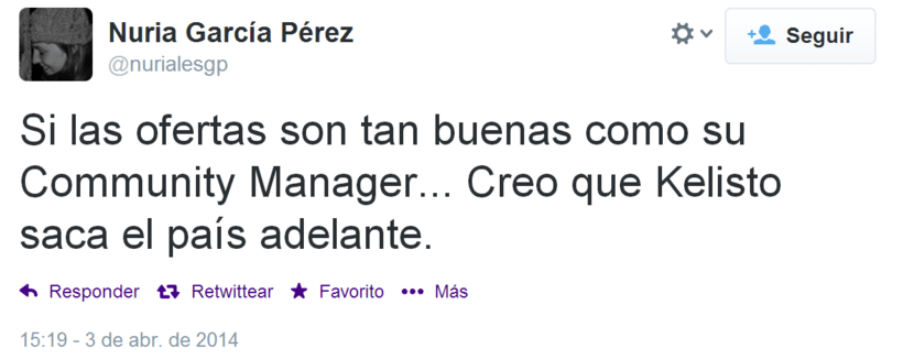 Community manager en Kelisto: Feedback de usuarios 2