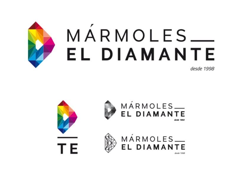 Identidad corporativa Mármoles El Diamante 1