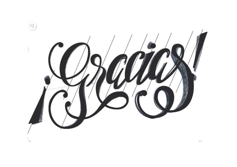 lettering  u00a1gracias