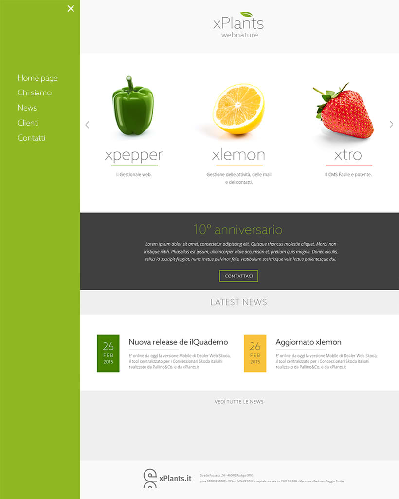 Xplants: new corporate identity and web site 2