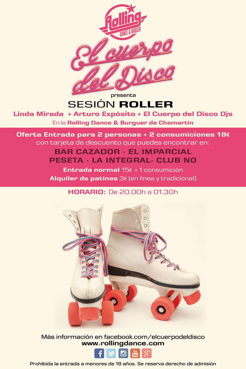Diseño Sesión Roller El Cuerpo del Disco. Mayo 2
