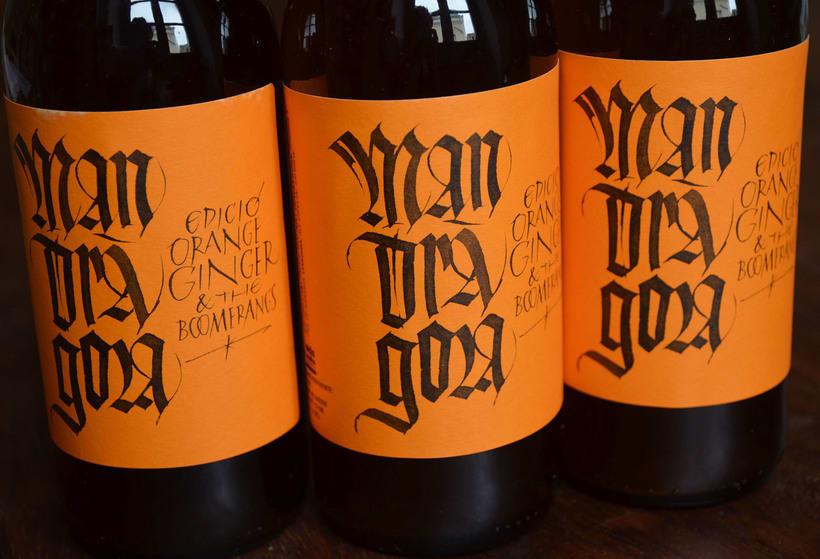 Mandràgora. Edición Orange Ginger & the Boomerangs. Cerveza con jengibre y naranja. 2