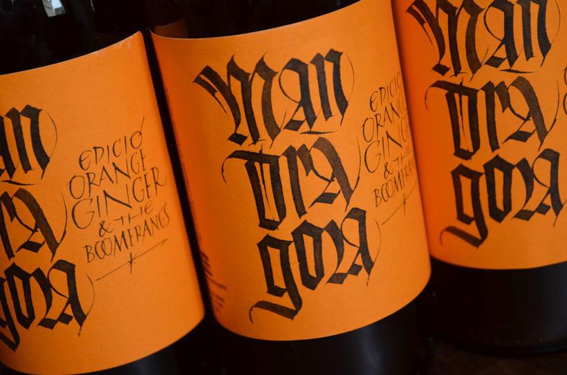 Mandràgora. Edición Orange Ginger & the Boomerangs. Cerveza con jengibre y naranja. 3