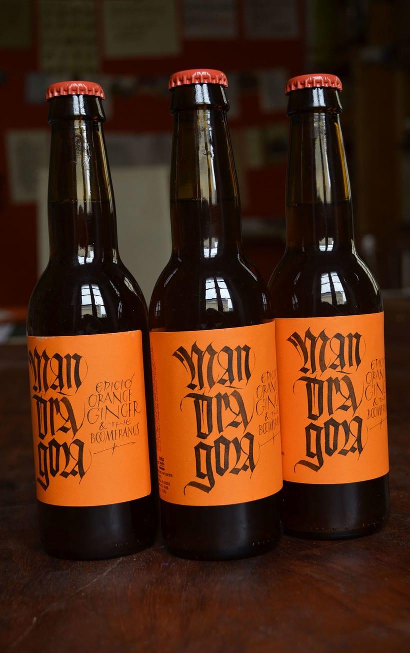 Mandràgora. Edición Orange Ginger & the Boomerangs. Cerveza con jengibre y naranja. 1