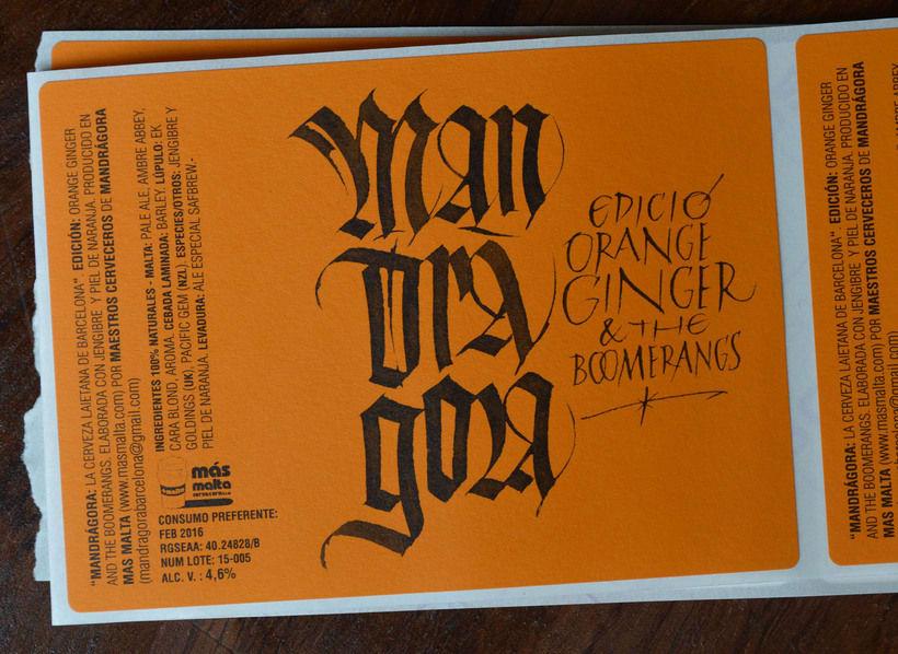 Mandràgora. Edición Orange Ginger & the Boomerangs. Cerveza con jengibre y naranja. 0
