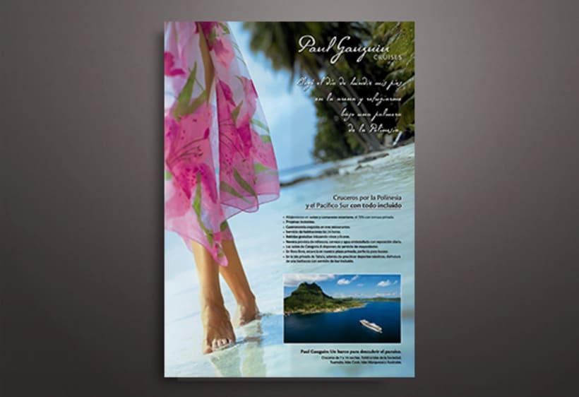 Publicidades para diferentes navieras de lujo 1