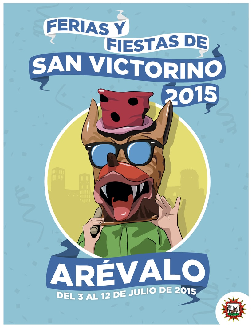 Propuesta cartel 'Ferias y Fiestas de San Victorino 2015' de Arévalo -1