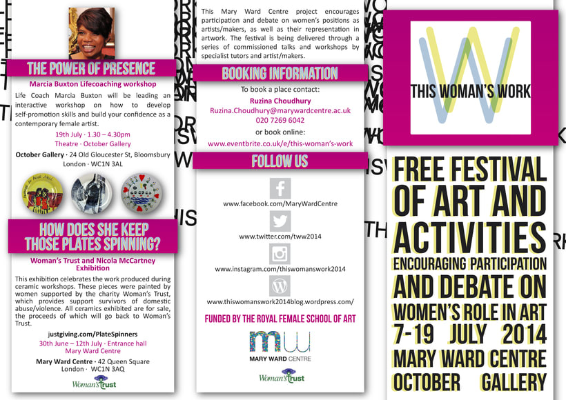 This Woman's Work Festival Leaflet -1