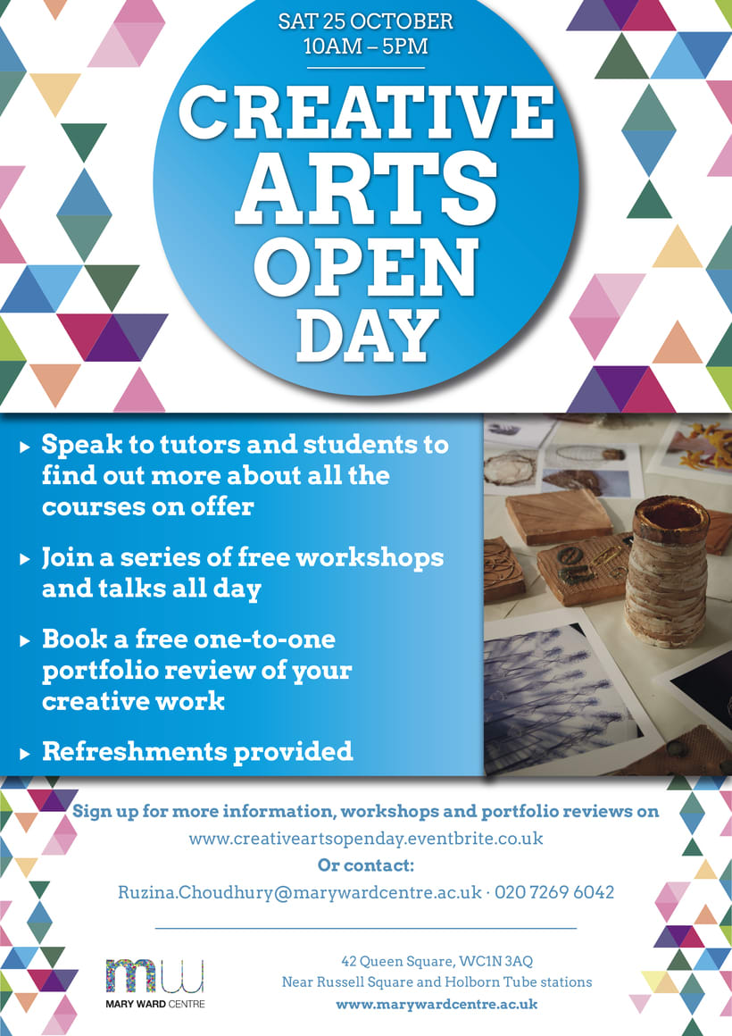 Creative Arts Open Day Poster '14 -1