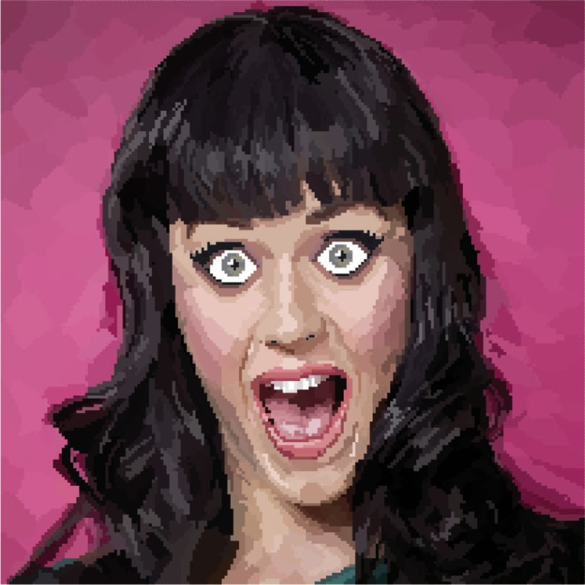 Pixel art - Katy Perry -1