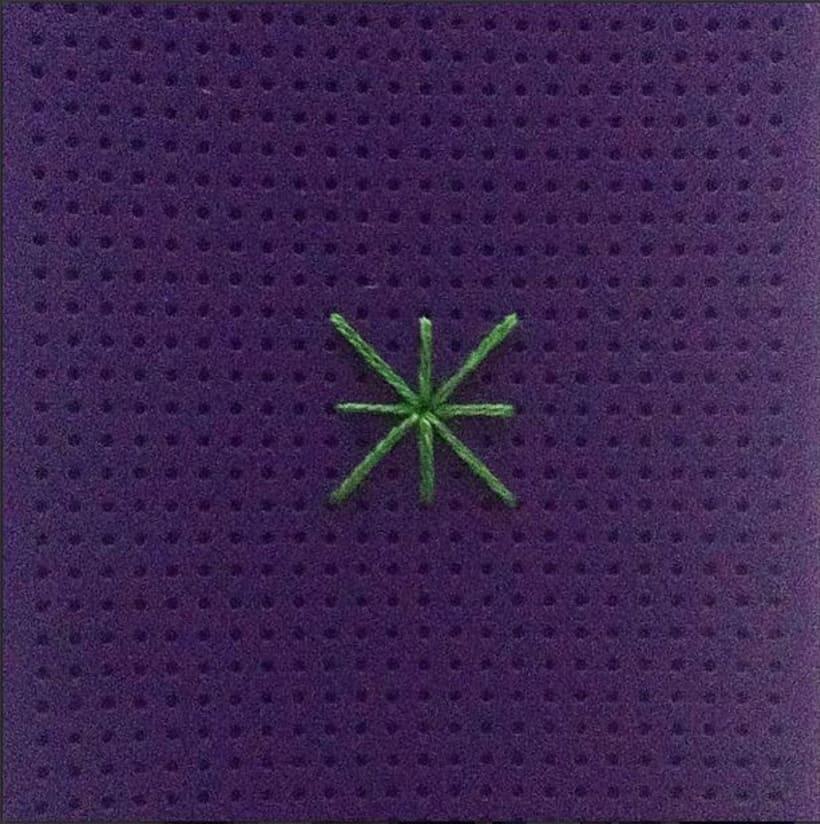 Carcasa con decoración cosida a mano -1