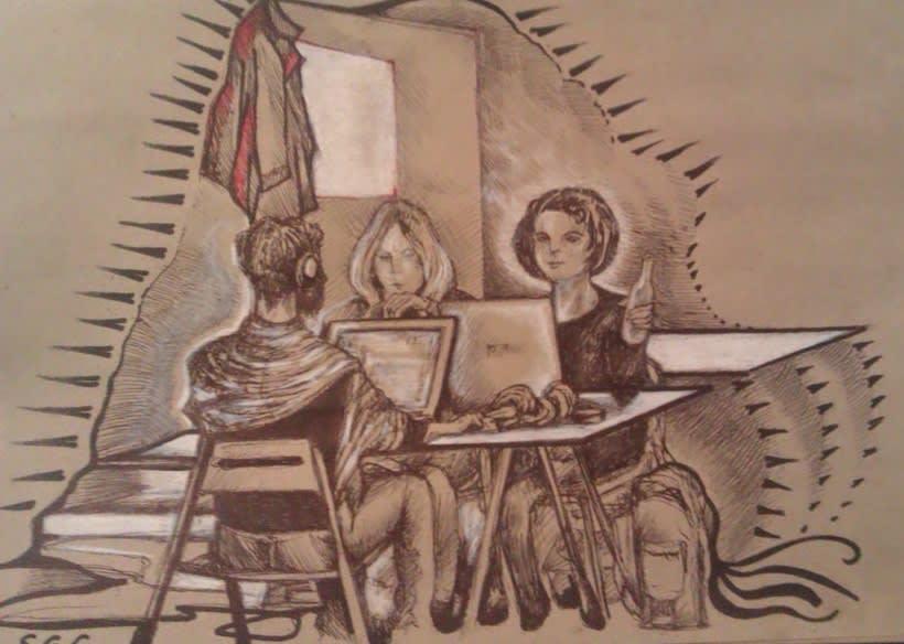 Dibujos en el Ranchito! Matadero Nave 16 1