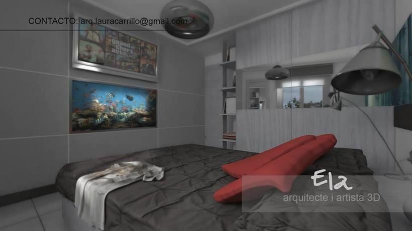 Diseño de habitación en un pequeño espacio 3DStudio + Vray 0