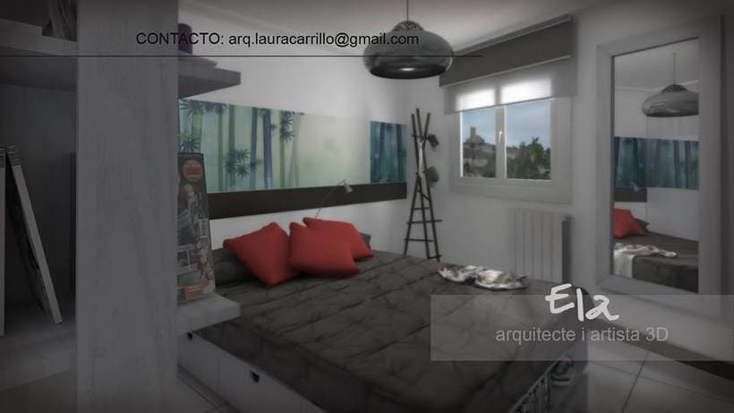 Diseño de habitación en un pequeño espacio 3DStudio + Vray 1
