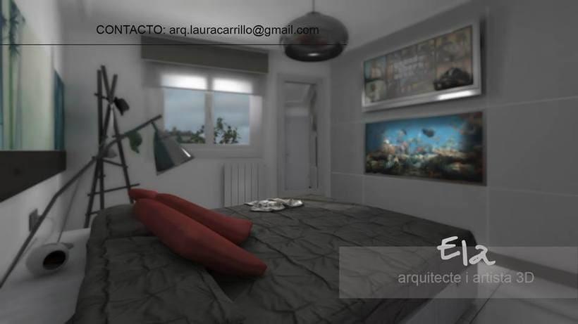 Diseño de habitación en un pequeño espacio 3DStudio + Vray 2
