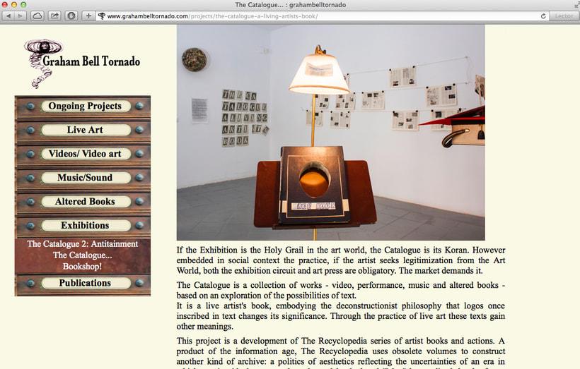Diseño y creación web para Graham Bell (Artista). 2