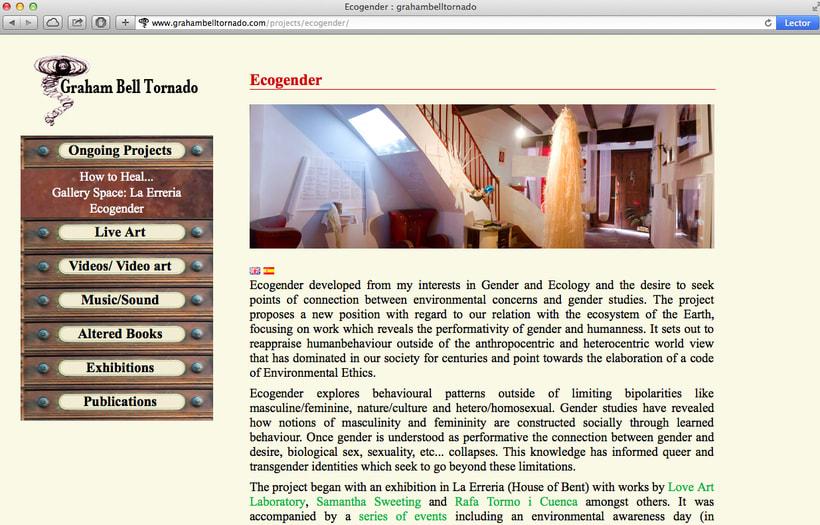 Diseño y creación web para Graham Bell (Artista). 3