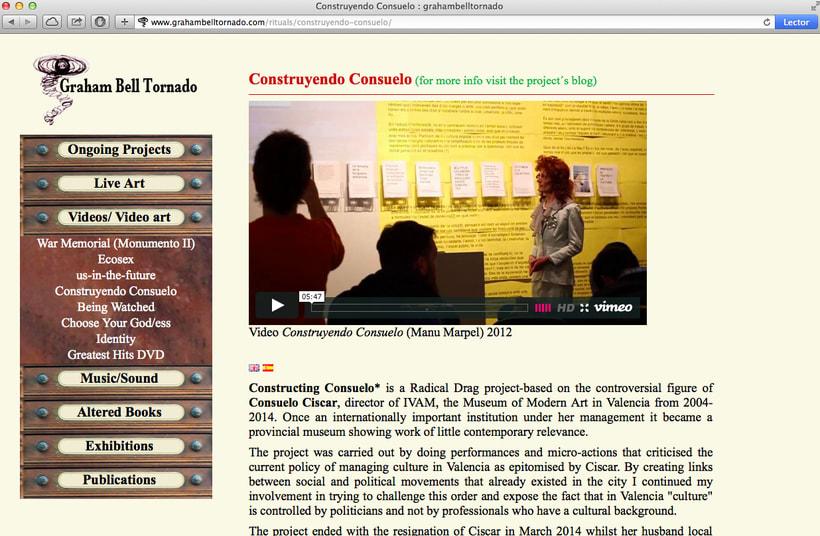 Diseño y creación web para Graham Bell (Artista). 1
