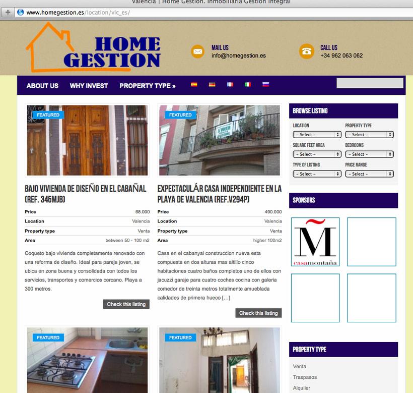 Diseño y creación web HomeGestion (Inmobiliaria) 3