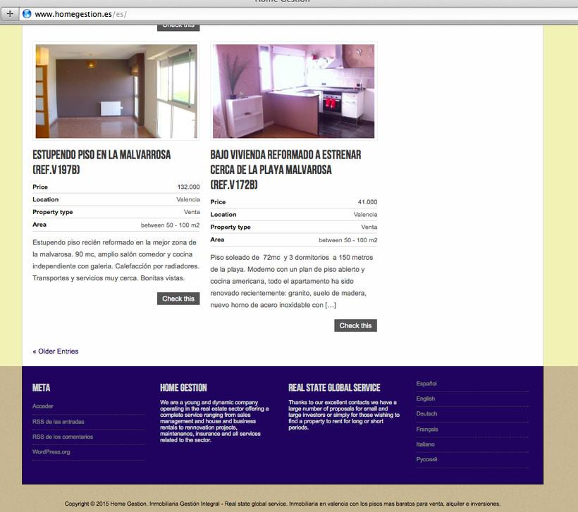 Diseño y creación web HomeGestion (Inmobiliaria) 4