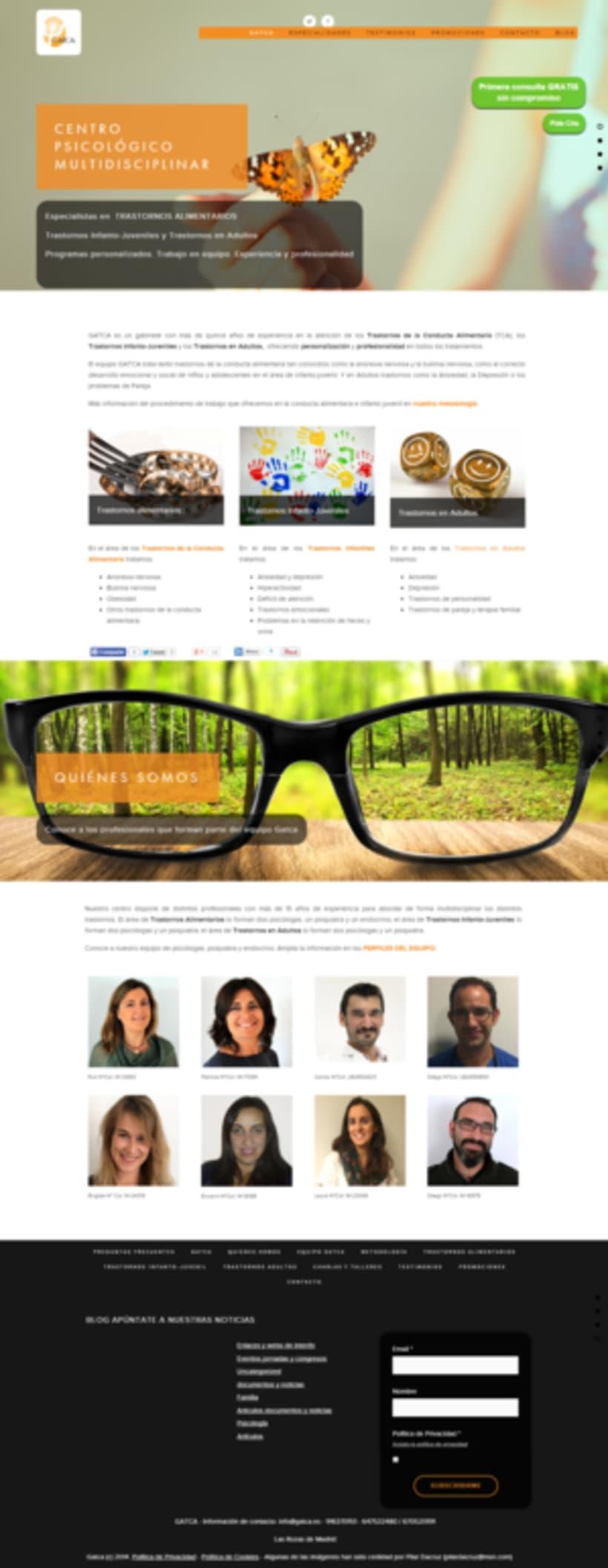 Web y Diseño de GATCA gabinete de psicología 2
