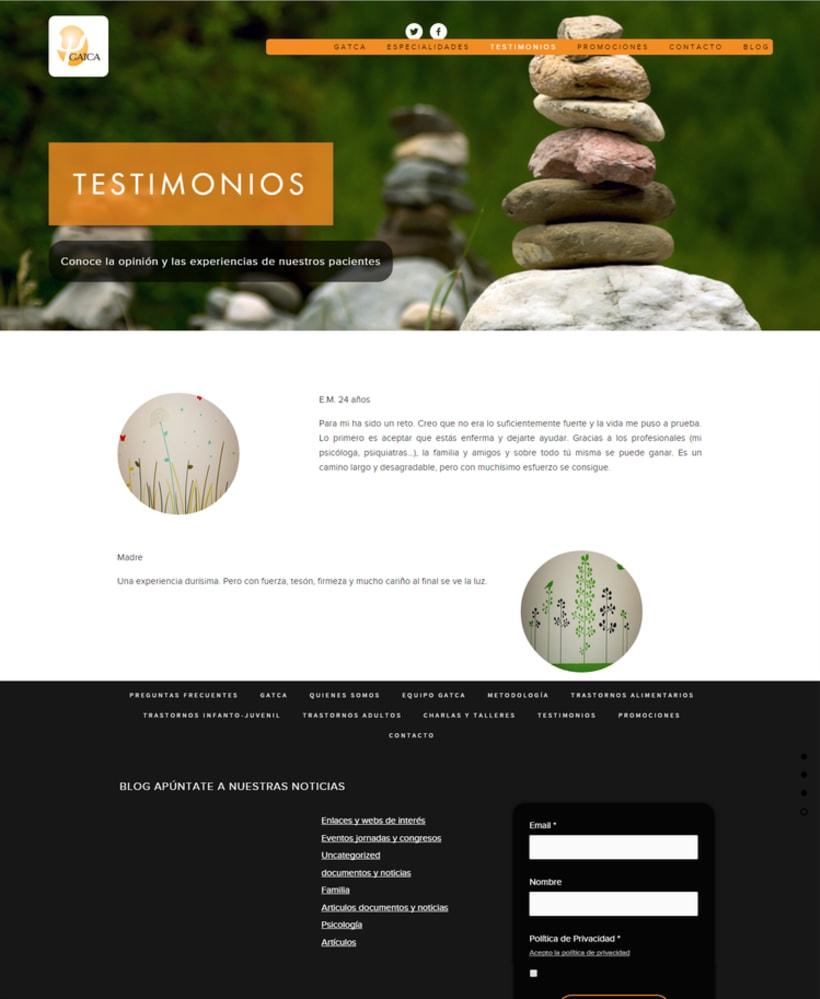 Web y Diseño de GATCA gabinete de psicología 3