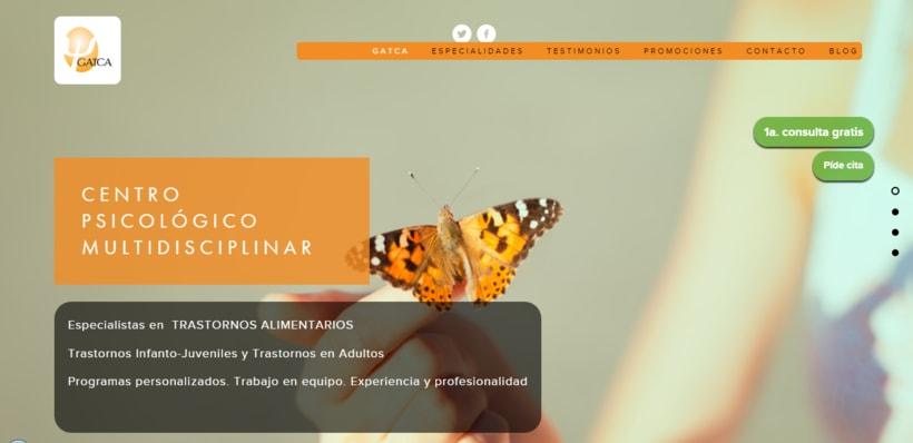Web y Diseño de GATCA gabinete de psicología 0