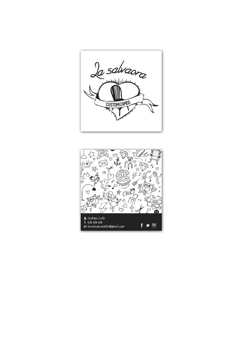 Logosímbolo y tarjeta de visita La Salvaora 1