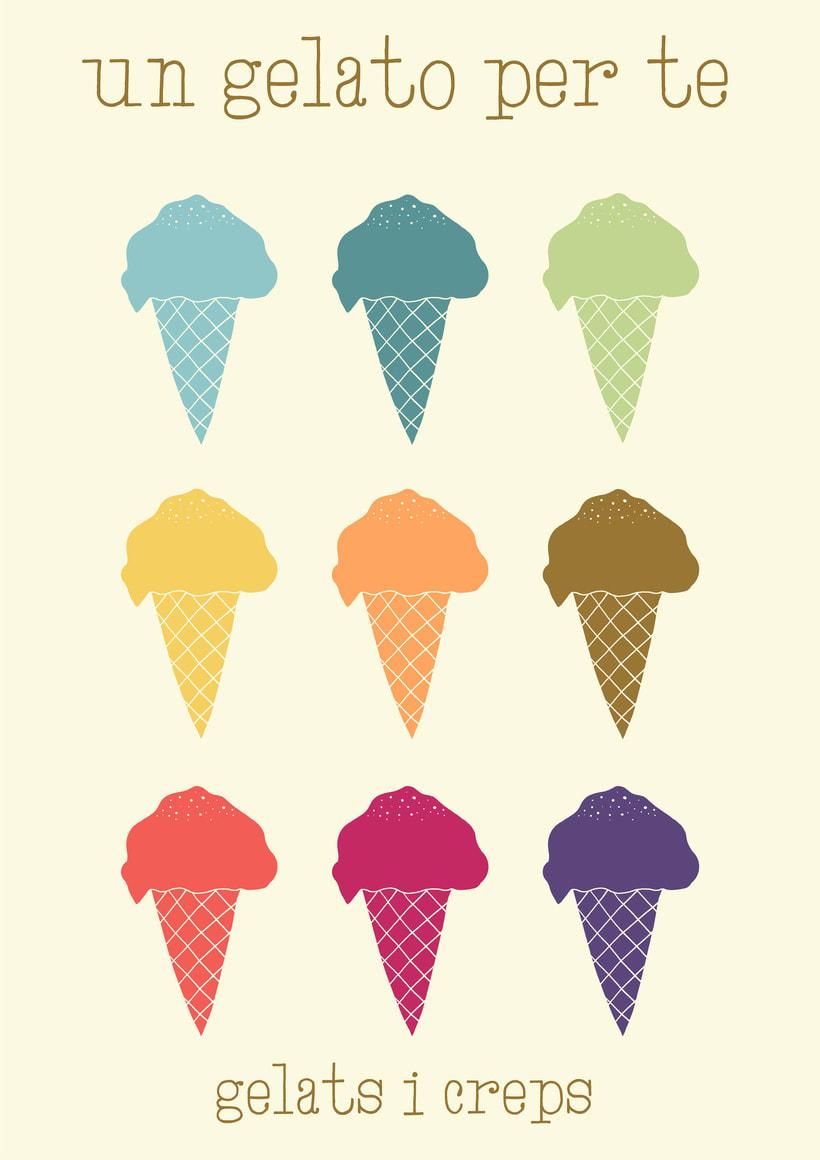 Un gelato per te.  Helados. Creps. Horchata. 1