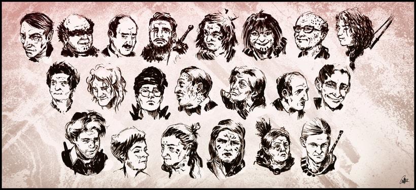 Retratos para Personajes -1