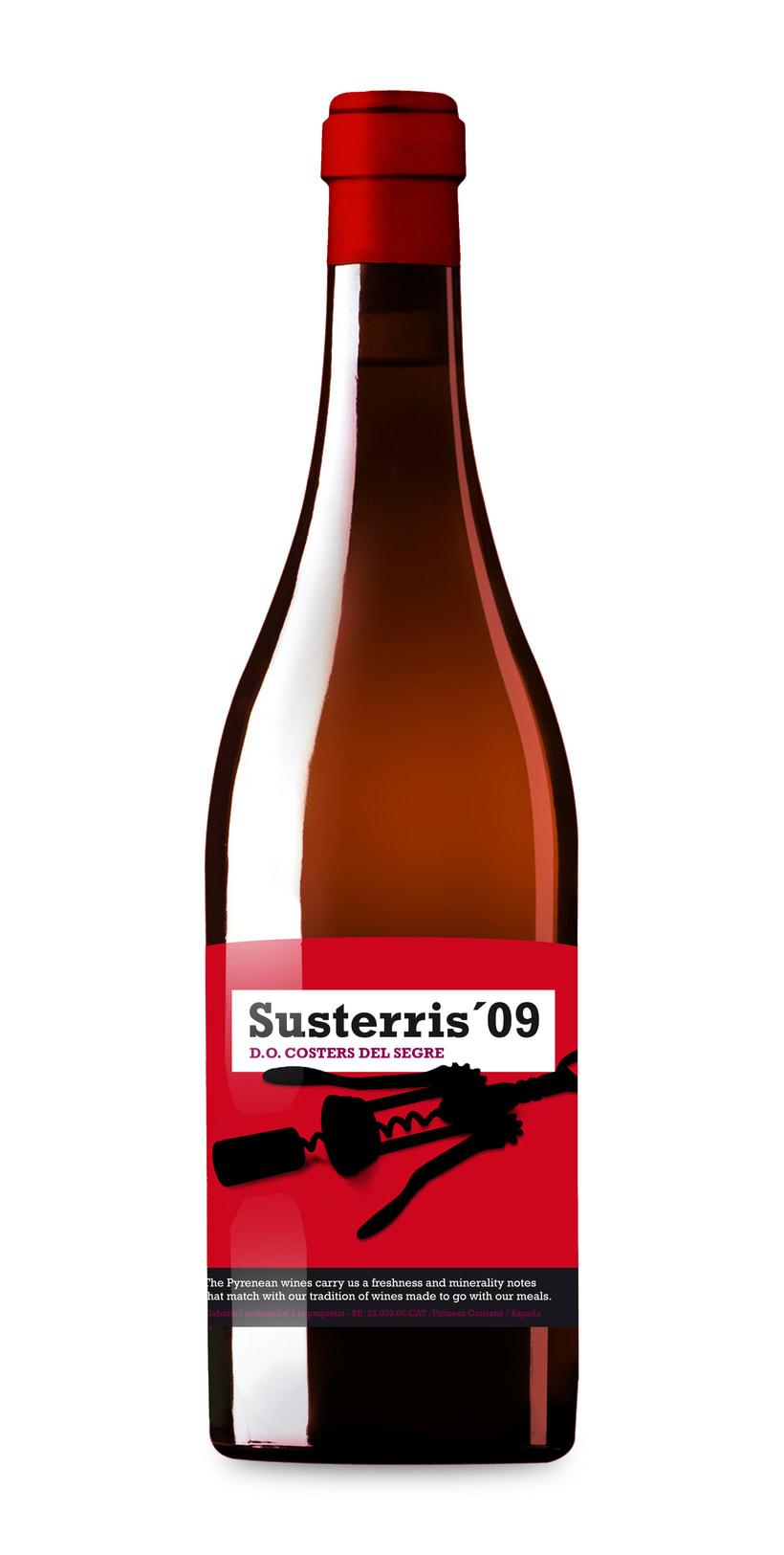 Etiquetas de vino Susterris para Carles Abellán -1
