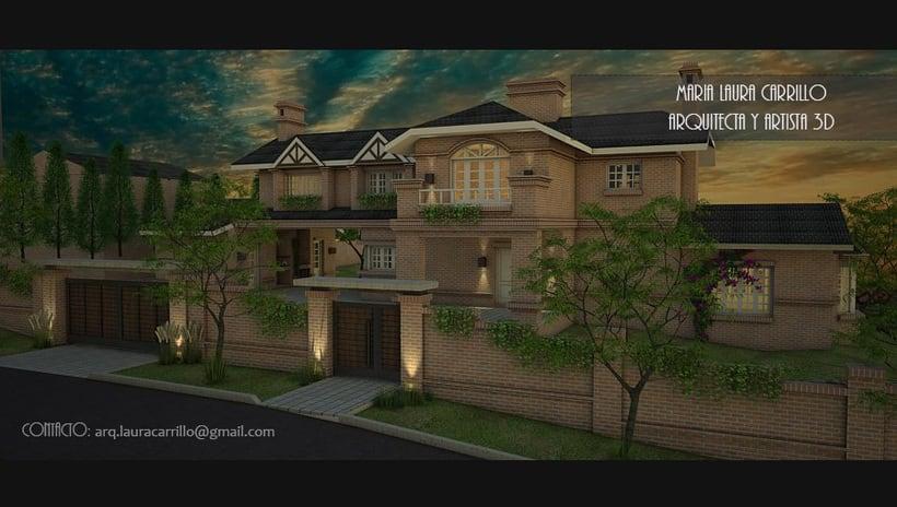 Casa unifamiliar Vista exterior SketchUP + Vray 0