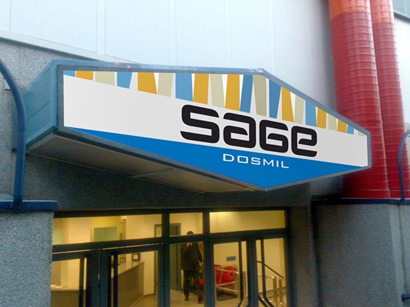 Identidad Corporativa de polideportivo SAGE en Madrid 3