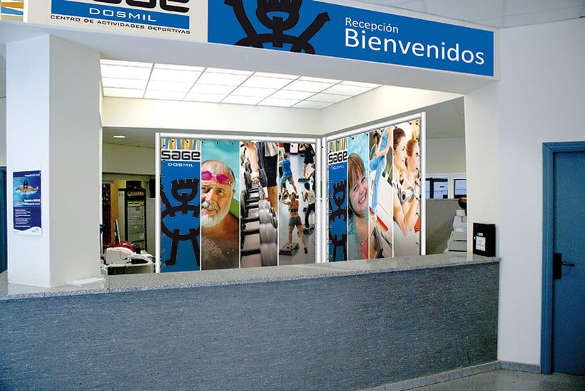 Identidad Corporativa de polideportivo SAGE en Madrid 4