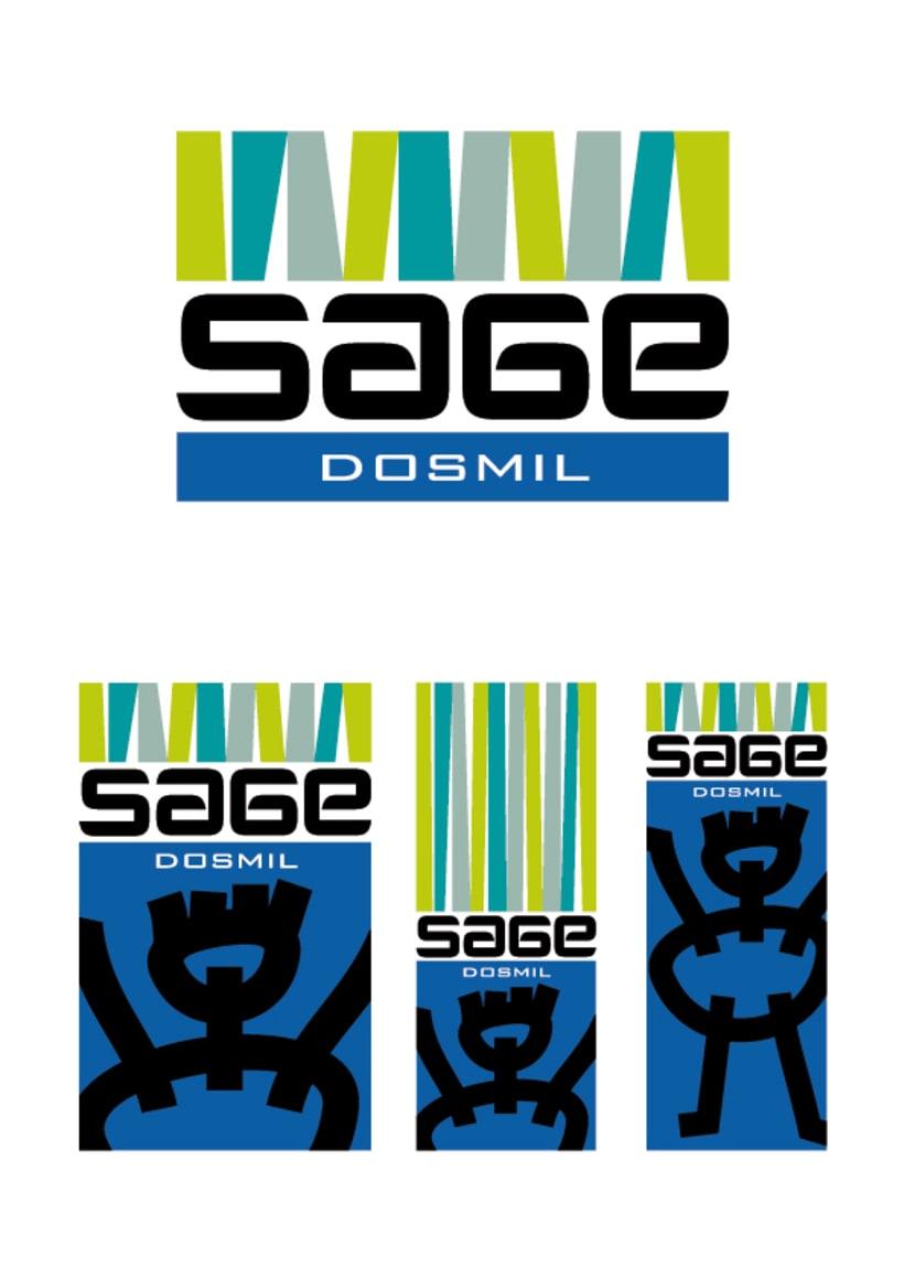 Identidad Corporativa de polideportivo SAGE en Madrid 1