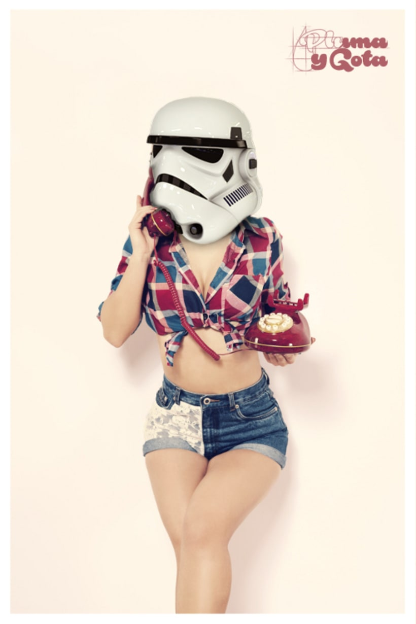 Pin Up Stormtrooper -1