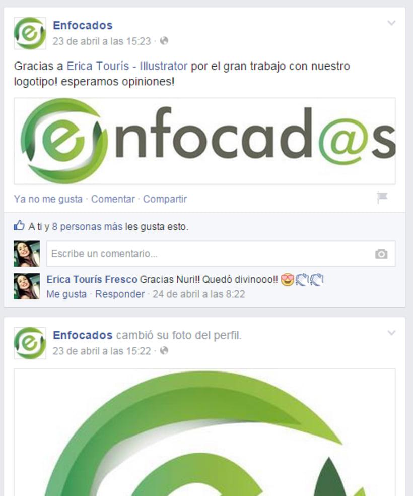 Diseño de Marca - Imagotipo - Enfocad@s de Nuria Atanes  3