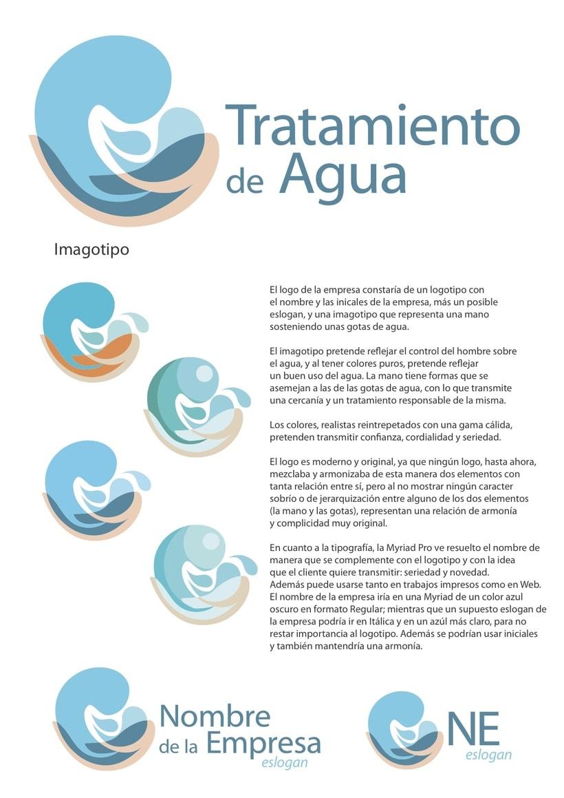 Logo para empresa de tratamiento de agua domestika - Tratamientos de agua ...