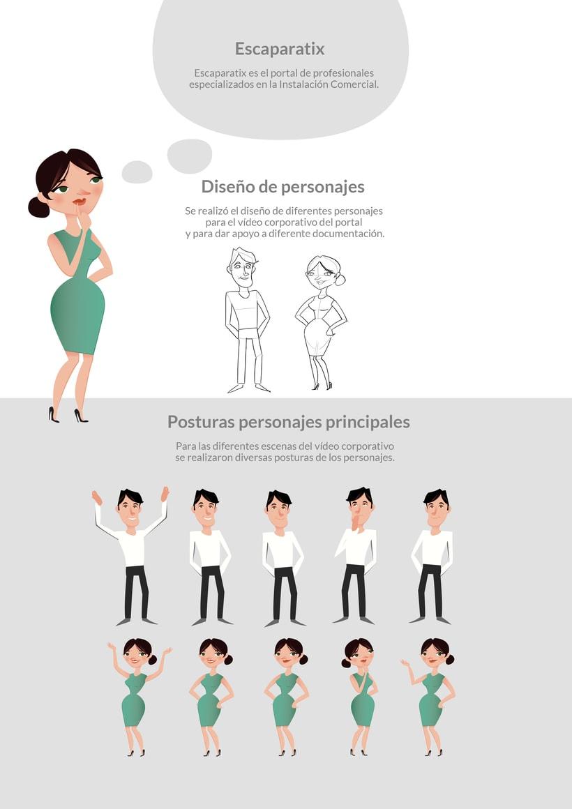 Motion graphic y diseño de personajes 0