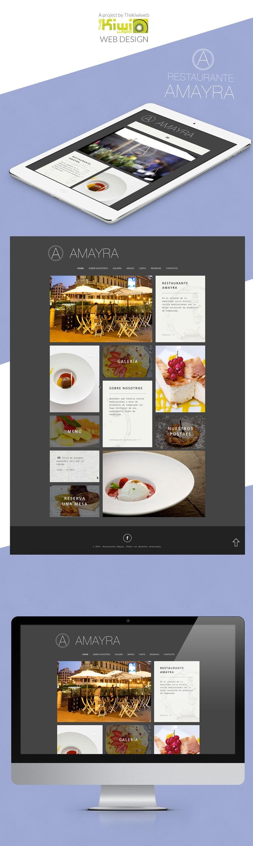 Restaurante Amayra Web Design 0