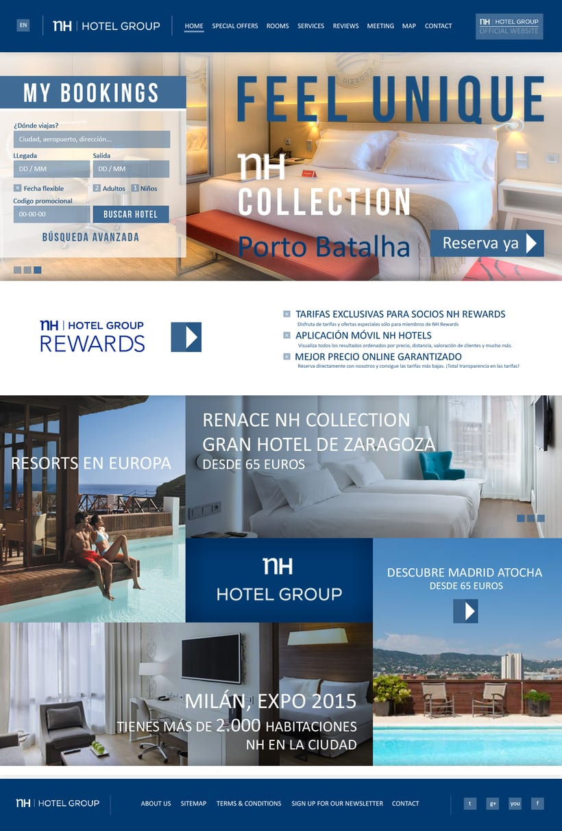 Diseño web - NH Hotel Group 1