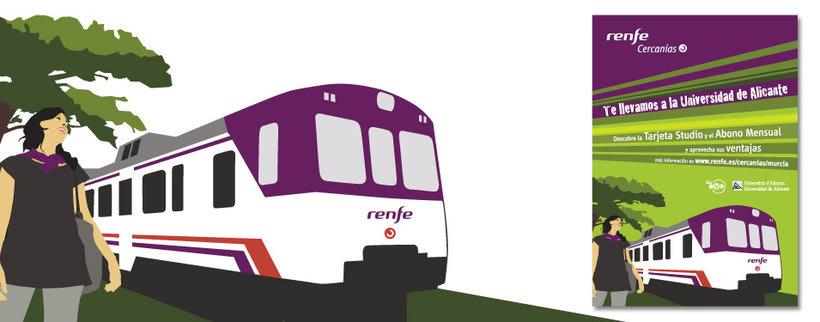 Campaña Renfe Cercanías. Promoción trayecto Alicante - Campus Universitario 0
